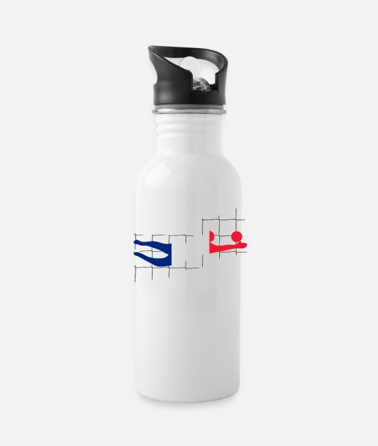 World Championship Mugs & Drinkware - goalkeeper - Water Bottle white