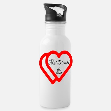 Dirndl MEI DIRNDL YOU ARE Love Declaration Herzmadl Glück - Drinkfles