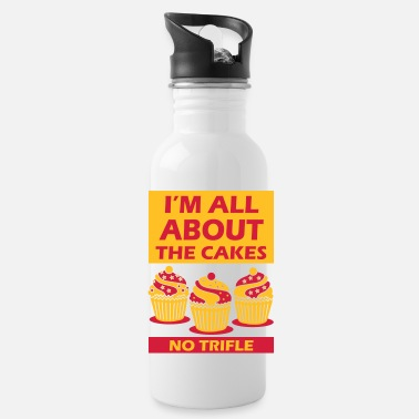 All about the cakes not bass - Water Bottle