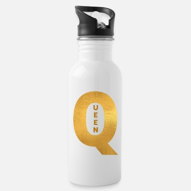 Off QUEEN Oversized Gold Letter Graphic Design - Water Bottle