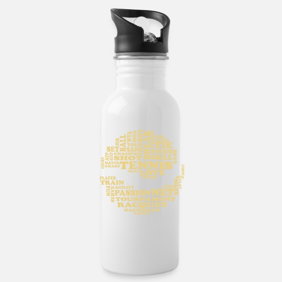 Characters Mugs & Drinkware - Tennis ball tennis words - Water Bottle white
