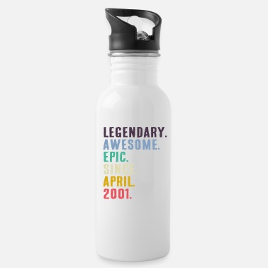 Birth Legendary Awesome Epic gift since April 2001 - Water Bottle