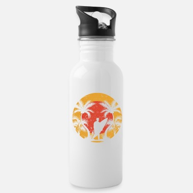 Tree Summer sea sun beach vacation water beach palm tree - Water Bottle