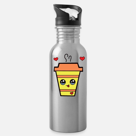 Freundin Tassen & Becher - KAWAII Coffee to go - Trinkflasche Lightsilver