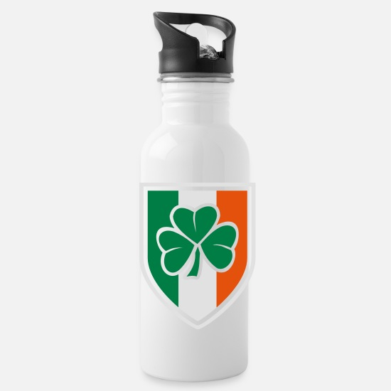 Party Mugs & Drinkware - clover sign - Water Bottle white