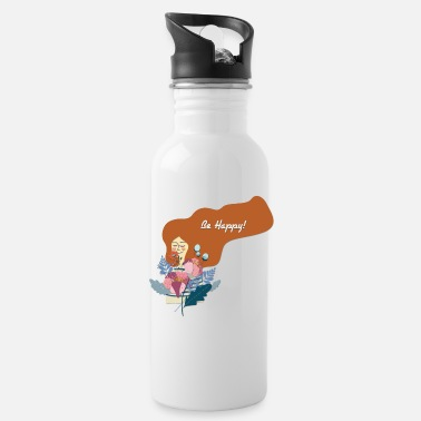 Happiness Be Happy - Be Happy - Water Bottle