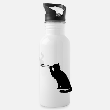 Smoke Weed Joint weed smoking weed smoking hemp cannabis cat - Water Bottle