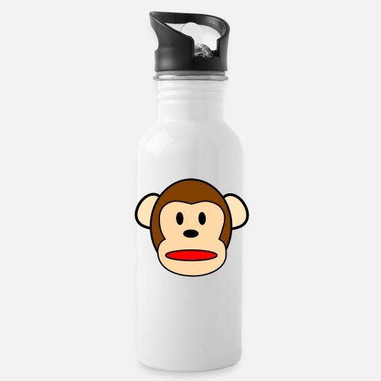 Monkey Mugs & Drinkware - Monkey collection - Water Bottle white