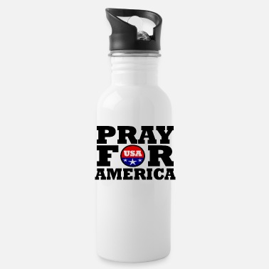 Texas America / USA / Pray For America - Water Bottle