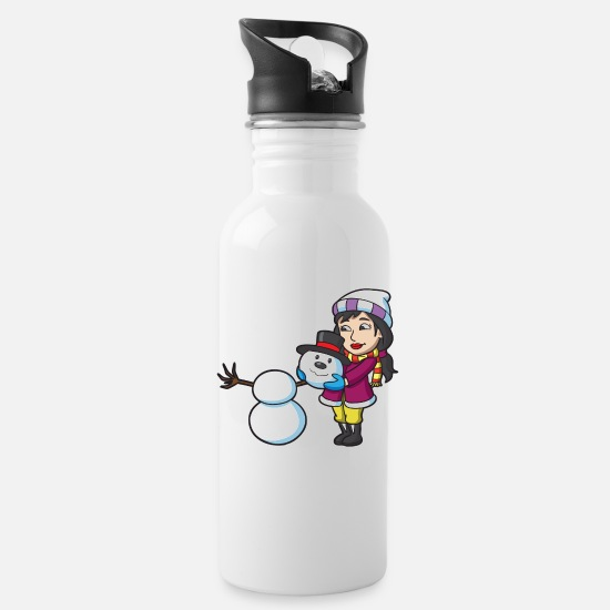 Snowman Mugs & Drinkware - Snowman - Water Bottle white