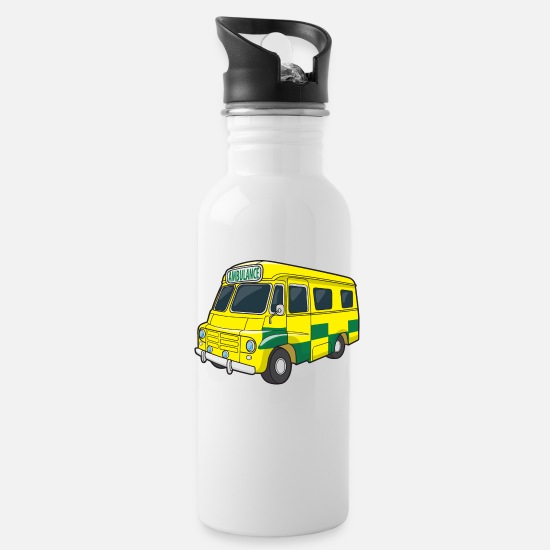 Emergency Mugs & Drinkware - Ambulance Van - Water Bottle white