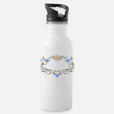 Gentian An Edelweiss and gentian frame - Water Bottle