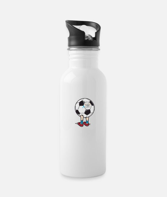 World Championship Mugs & Drinkware - Football World Cup Puns - Kick ME! - Water Bottle white