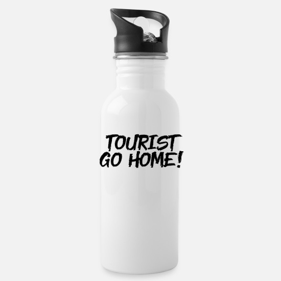 Tourist Mugs & Drinkware - Tourist go home - Water Bottle white