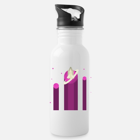 Shooting Star Mugs & Drinkware - Space Planet Space Shuttle - Water Bottle white