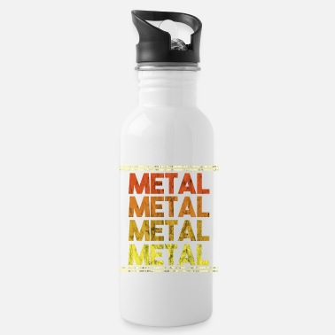 Metal Music Metal Music Shirt - Gift - Water Bottle