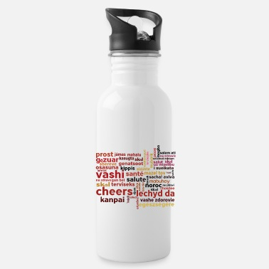 Language Cheers in 50 languages - Water Bottle