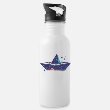 Space Ship Space paper ship - Water Bottle