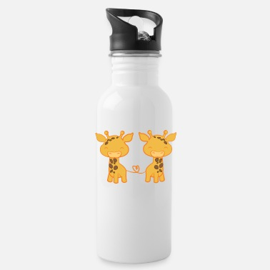Giraffe Giraffe - Giraffes - Giraffe fan - Giraffe love - Water Bottle