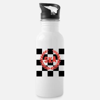 Ska Punk SKA Checkered Skinhead Punk Music T-Shirt - Water Bottle