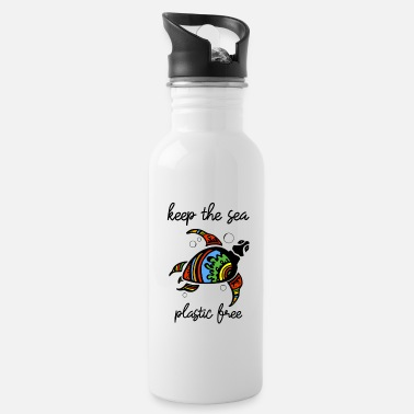 Officialbrands Keep The Sea Plastic Free Stop Ocean Pollution - Water Bottle