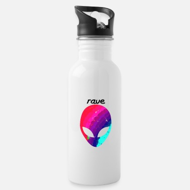 Rave rave alien - Water Bottle