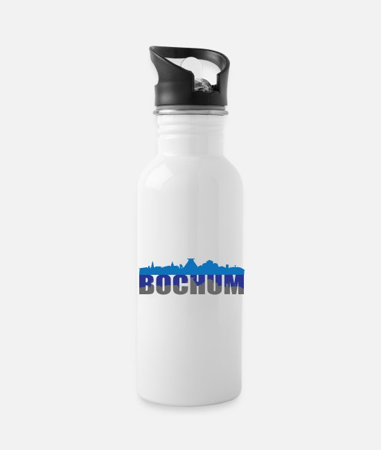 Bochum Mugs & Drinkware - Bochum skyline - Water Bottle white
