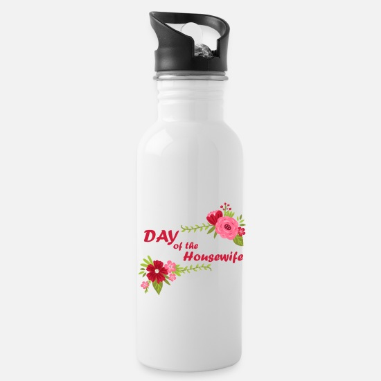 Birthday Mugs & Drinkware - Day of the Housewife / Day of Housewife - Water Bottle white