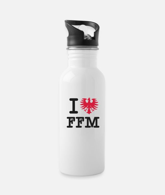 Alcohol Mugs & Drinkware - Frankfurt T-Shirt Fan Gift FFM 069 Shirt - Water Bottle white