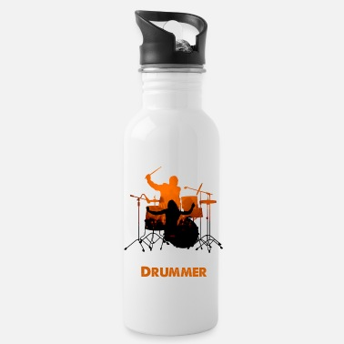 Drummer Drums Music Rock Concert Gift - Water Bottle