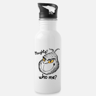 Naughty Naughty Grinch Christmas naughty naughty naughty - Water Bottle