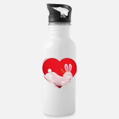 Thumper Bunny Rabbit Bunny Love Heart Pet Gift - Water Bottle