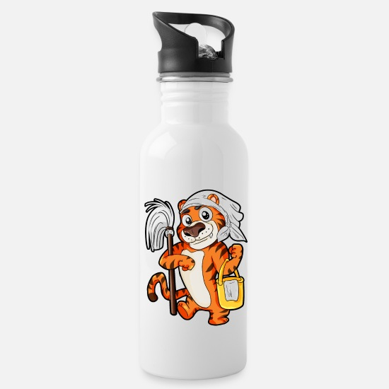 Clean Mugs & Drinkware - Tiger Household Houseman Housewife Cleaning Gift - Water Bottle white