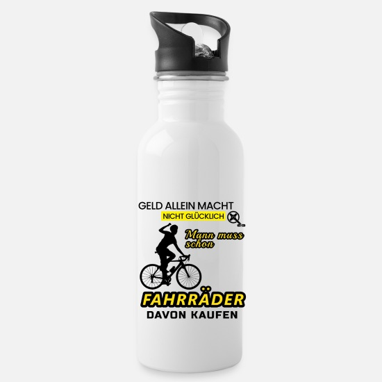 Bike Messenger Mugs & Drinkware - Bicycle Messenger Shirt • Bicycle Gift - Water Bottle white