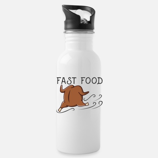 Shrovetide Mugs & Drinkware - Fast food design - Water Bottle white