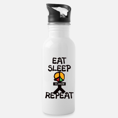 eat sleep olodum repeat - Trinkflasche