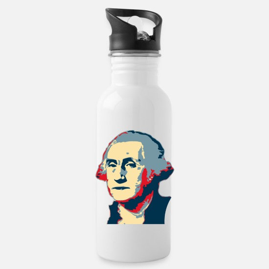 Politics Mugs & Drinkware - George Washington Pop Art - Water Bottle white