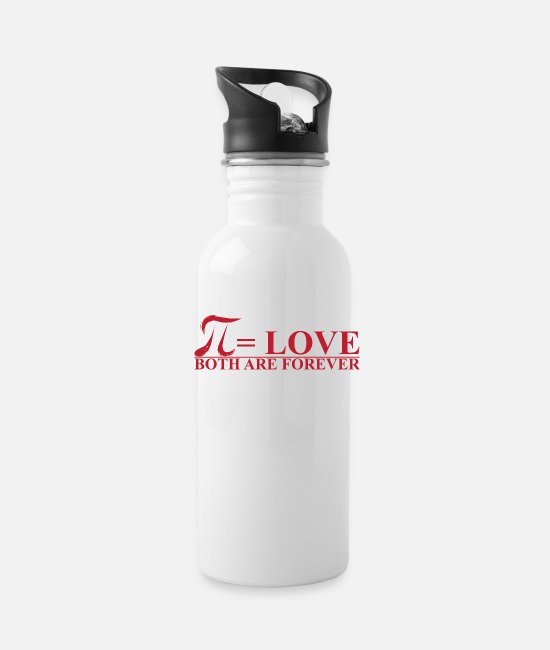 Pi Day Mugs & Drinkware - Pi = love - Water Bottle white