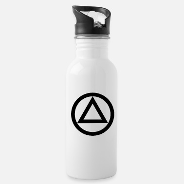 Anonymous Anonymous alcoholic symbol logo AA NA anti alcohol - Water Bottle