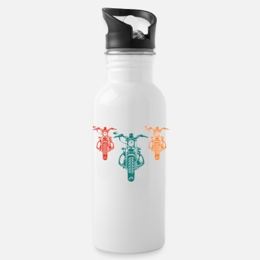 Nineties Retro motorcycle biker gift 90s 90s - Water Bottle