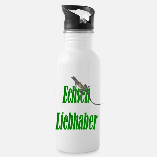 Gift Idea Mugs & Drinkware - lizard lovers - Water Bottle white
