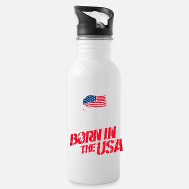 World Of Tanks Blitz Born In The USA Slogan - Water Bottle