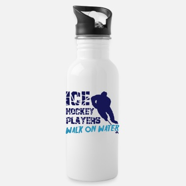 Ice Ice Hockey Players Walk on Water - Water Bottle