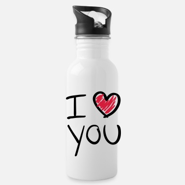 Valentines Day i_love_you__f2 - Water Bottle