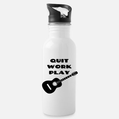 Guitarist Stop working, play guitar, guitarist, instrument - Water Bottle
