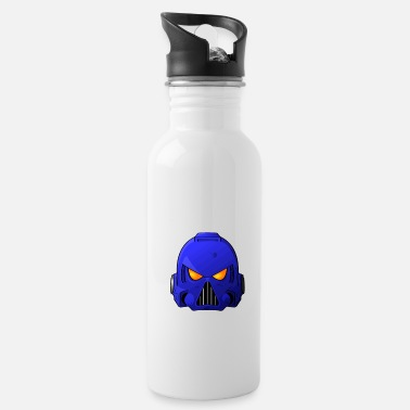 Marine Wife Ultramarine Space Marine Helmet - Water Bottle