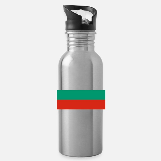 Country Mugs & Drinkware - Bulgaria flag - Water Bottle silver