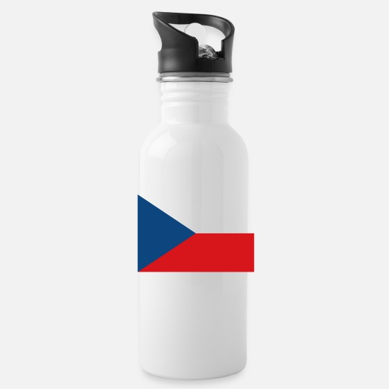 Country Mugs & Drinkware - Czech Republic flag - Water Bottle white