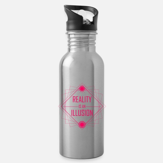 New World Order Mugs & Drinkware - Reality is an illusion - Water Bottle silver