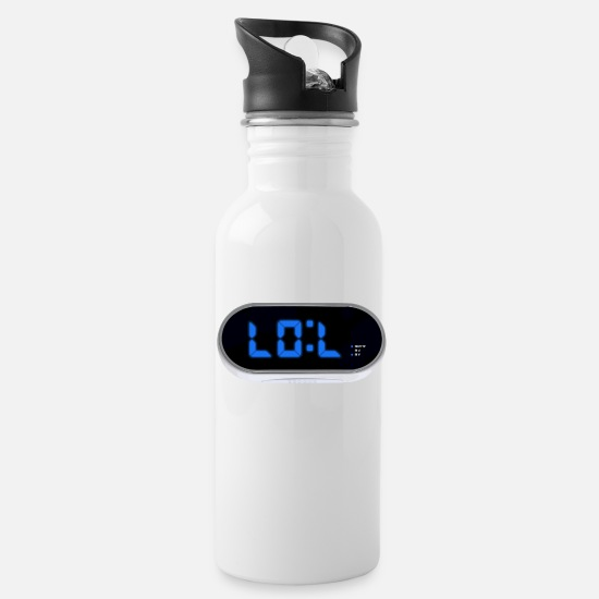 Labour Mugs & Drinkware - Alarm clock LOL - Water Bottle white